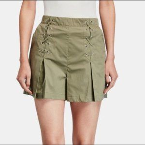Laundry by Shelli Segal Olive Pleated Skort NWT